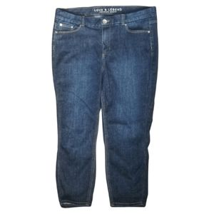 LOVE & LEGEND / High Rise Cropped Jeans